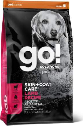 Сухой корм для собак GO! Skin + Coat Care Lamb Recipe, ягненок, 11,35кг