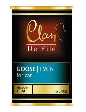 Консервы для кошек Clan de File, монобелковые, гусь, 340г