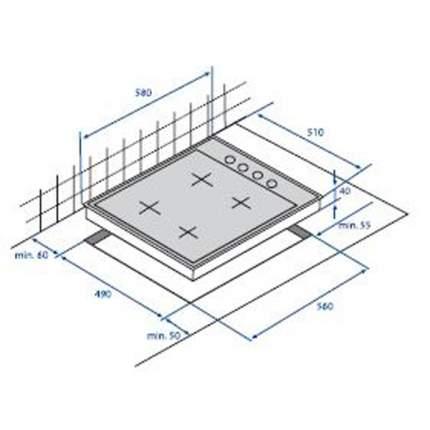 Встраиваемая варочная панель газовая Beko HIZG 64125 CR Beige