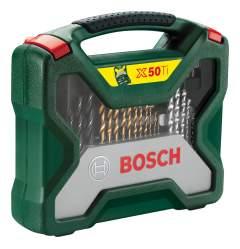 Наборы бит и сверл для дрелей, шуруповертов Bosch X-line 50 2607019327