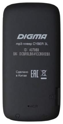 "Плеер Flash Digma Cyber 3L 4Gb черный/1.8""/FM/microSDHC"