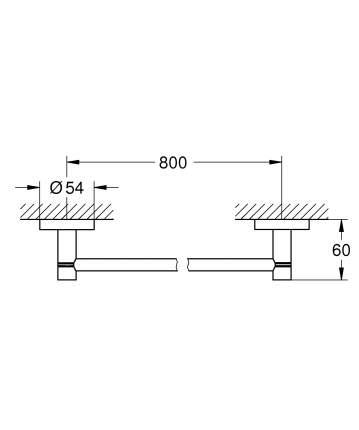 Держатель для банного полотенца GROHE Essentials 800 мм, хром