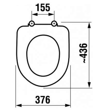 Крышка-сиденье для унитаза Jika Baltic 8.9328.1.300.063.9, белый