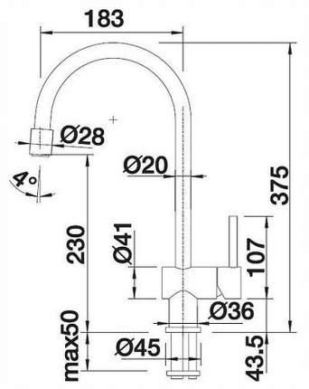 Смеситель для кухонной мойки Blanco FILO-S 512764 песок