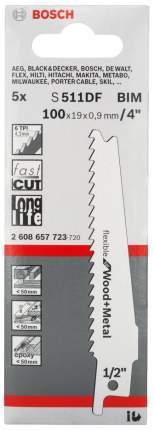 Полотно универсальное для сабельных пил Bosch S511DF Flex Wood Metal 2608657723