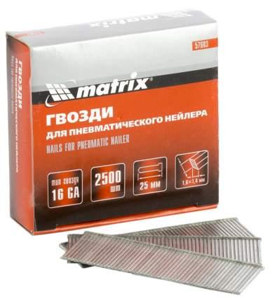 Гвозди для электростеплера MATRIX 25 мм 2500 шт 57603