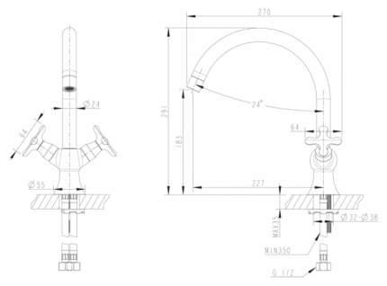Смеситель для кухонной мойки BRAVAT Summer Rain F777111C хром