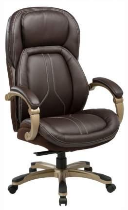 Кресло руководителя Бюрократ T-9919/BROWN, коричневый/золото