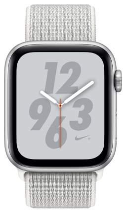 Смарт-часы Apple Watch Series 4 Nike+ 44mm Silver Al/White Nike Sport Loop (MU7H2RU/A)