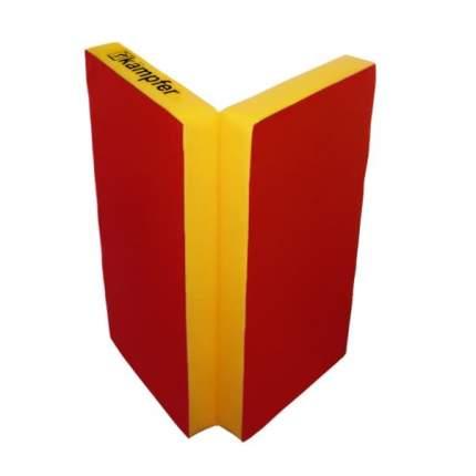 Детский спортивный мат Kampfer №4 (100 x 100 x 10 см) красно-желтый