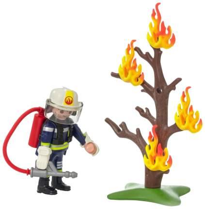 Игровой набор Playmobil Экстра-набор:Пожарник с деревом