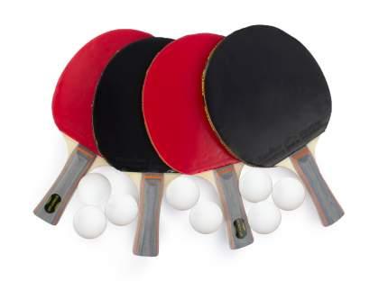 Набор для настольного тенниса Start Up 1* BB02, 4 ракетки, 8 мяча