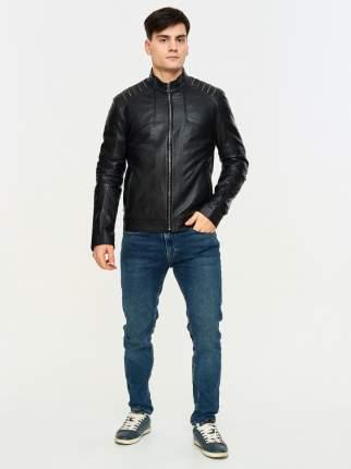 кожаная куртка мужская Mondial KF-09 черная 52 EU