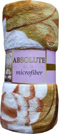 Плед TexRepublic Absolute Пионы 3D Микрофайбер 1,5 спальный Бежевый/коричневый