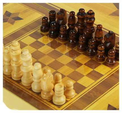 """Набор настольных игр 3 в 1 """"Нарды, шахматы, шашки"""""""