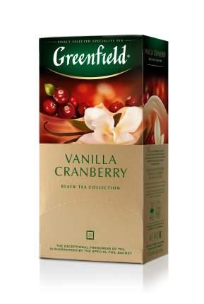 Чай черный Greenfield vanilla cranberry 25 пакетиков