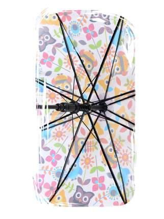 Зонт-трость МихиМихи Совы с листочками розовый