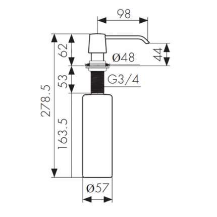 Дозатор для кухонной мойки Kaiser KH-3012/3011BP