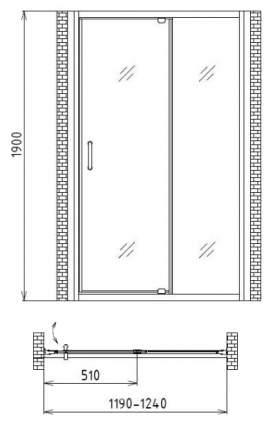 Душевая дверь gemy sunny bay s28191b
