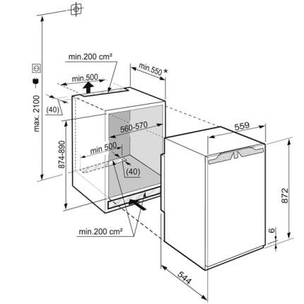 Встраиваемая морозильная камера Liebherr IG 1624