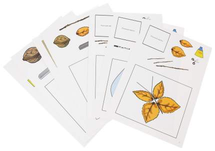 Ручной труд. Природный и бросовый материал. 6-7 лет: 16 красочных карт