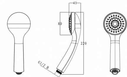 Душевые лейки BRAVAT P70135CP-1-RUS