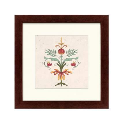 Литография The grammar of ornament №17, 35х35см, Картины в Квартиру