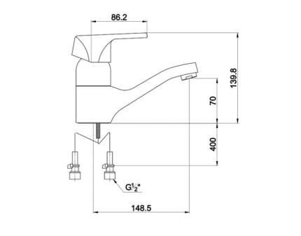 Смеситель для раковины Timo 0151-15F chrome