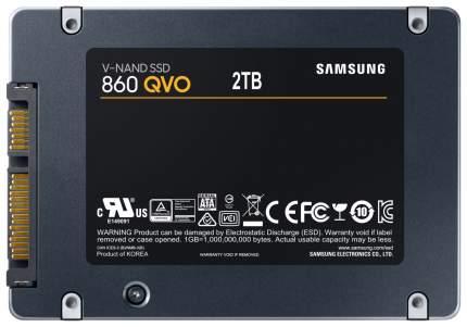 Внутренний SSD накопитель Samsung 860QVO 2TB (MZ-76Q2T0BW)