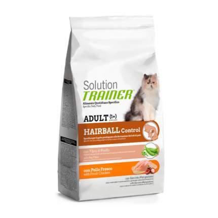 Сухой корм для кошек TRAINER Solution Hairball, для выведения шерсти, курица, 1,5кг