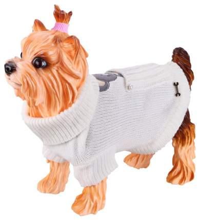 Одежда для собак Dezzie Свитер-попона, белый, S, 35 см