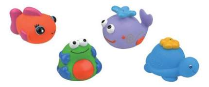 """Набор для ванны из 4-х игрушек K'S Kids """"Черепашка, кит, рыбка, лягушка"""""""