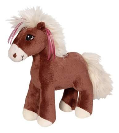 Мягкая игрушка NICI Лошадка Вельвет коричневая, стоячая, 25 см