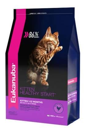 Сухой корм для котят Eukanuba Kitten Healthy Start, курица, 0,4кг