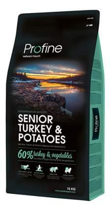 Сухой корм для собак Profine Senior Turkey & Potatoes, индейка, картофель, 15кг