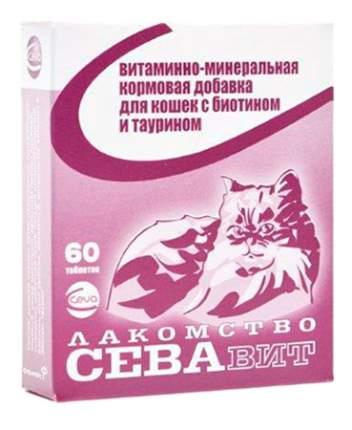 Лакомство для кошек Ceva СЕВАвит с биотином и таурином, 60таб.