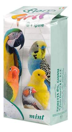 Подстилка в клетку для птиц fiory песочная с мятой, 1кг