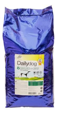 Сухой корм для собак Dailydog Adult Large Breed, для крупных пород, курица и рис, 20кг