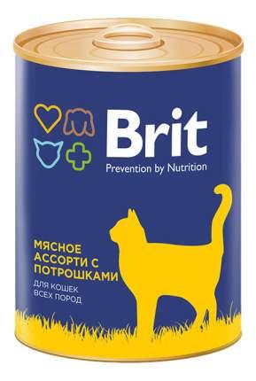 Консервы для кошек Brit Prevention by Nutrition, мясо, 12шт, 340г