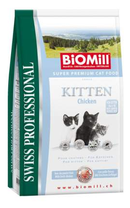 Сухой корм для котят BIOMILL Swiss Professional Kitten, курица, 1,5кг