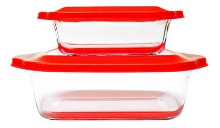 Набор форм для духовки/СВЧ Frybest 2p set Red