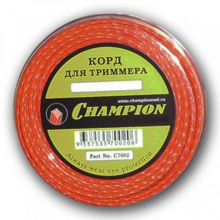 Леска для триммера Champion Twisted Square 2.0мм/15м (витой) (C7002)