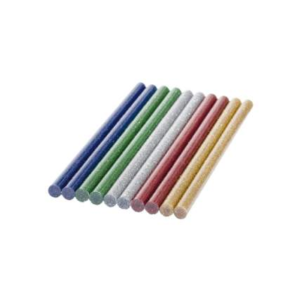 Стержни клеевые Bosch 10шт 7x150мм цветные с блестками (2609256D31)