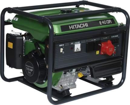 Бензиновый генератор Hitachi E40 3P 3-х фазный зеленый/черный