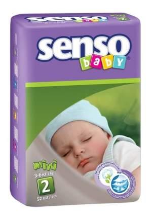 Подгузники для новорожденных Senso Baby Mini (3-6 кг), 52 шт.