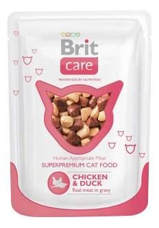 Корм для кошек Brit, курица, утка, 80г