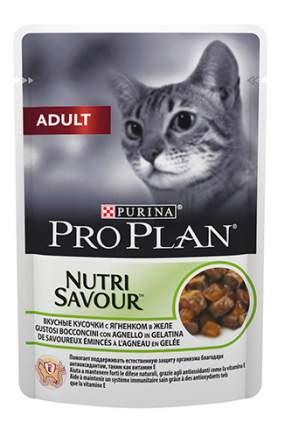 Влажный корм для кошек PRO PLAN Nutri Savour Adult, ягненок, 85г