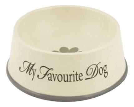 Одинарная миска для собак Beeztees, керамика, коричневый, 0.5 л