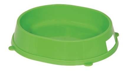 Одинарная миска для кошек и собак Gamma, пластик, зеленый, 0.2 л