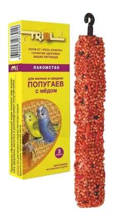 Лакомства для птиц Triol мелких и средних попугаев, с мёдом, КФ-10000,3 в 1